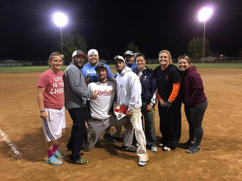 recreation at the baseball field